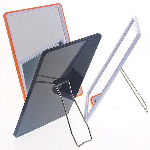 Stellspiegel, Kosmetex Tisch-Spiegel flexibel zum Stellen oder Hängen, 13 x 19 cm, 3er Set