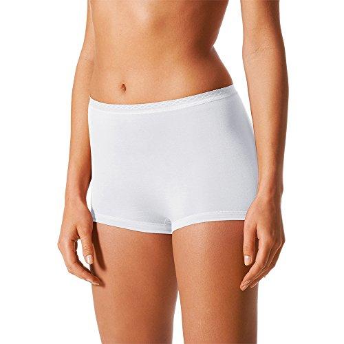 2er Pack Mey Damen Panty - Mey Lights - 89206 - Weiß, Schwarz, Skin - Größe 38 bis 48 -Mey Bodysize - Damen Pants ohne Seitennähte - UNWAGO Set Weiß