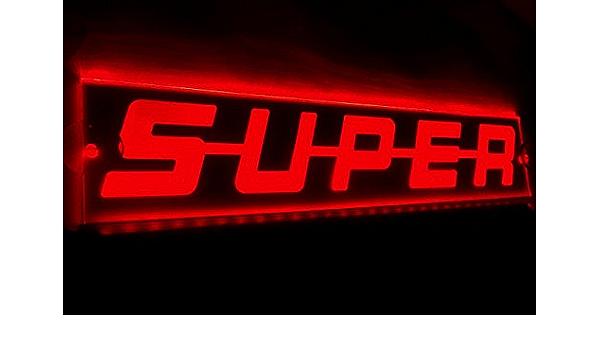 Vnvis 12v Rot Beleuchtete Led Platte Super Schild Licht Für Lkw Kabine Innendekoration 500mm Auto