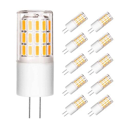 Ascher 10er Pack G4 LED Lampe, Kein Flackern, (3W, Ersetzt 30W Halogen), 280LM, Warmweiß, 12V AC/DC, G4 LED Leuchtmittel Birne
