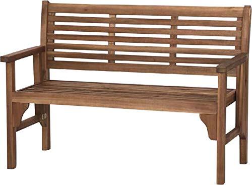 Siena Garden 2er Bank Lovera, 59,5x120x90cm, Akazienholz, geölt in natur, FSC 100%