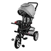 Profiseller Chiccot Kids Tricycle - 8 in 1 - Trike Baby Walker Bike with Wheels Filled with Foam, a Rotating Seat and a Shock Absorber