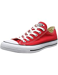 Converse Chuck Taylor All Star Ox, Zapatillas de Lona, Unisex, Rojo (Red), 37.5