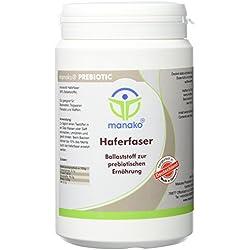 manako Haferfaser Ballaststoffe PREBIOTIC, 300 g Dose (1 x 0,3 kg)