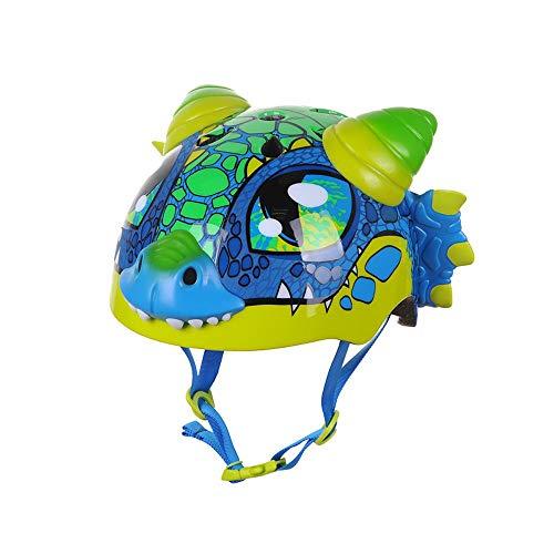 Casco Bici Ideale per Bambini e Adolescenti Caschi Perfetto per Downhill Ciclismo MTB Scooter Helmet,CPSC,Certificazione CE UE Circonferenza 48-54cm Taglia 25 * 21cm Drago