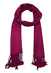 URBAN-TRENDZ Latest Collection of Satin Pashmina Scarf Stole Duppatta Shawl with twisted fringes in Superfine Quality (Summer Colours) UT2327FU