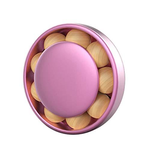 bismarckber - Deodorante Rotondo con Perline di Legno per Bocchetta dell'Aria dell'auto, Decorazione per Auto, Rosa, Taglia U