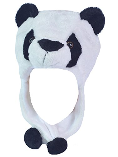 Honeystore Unisex Erwachsene Kinder Tiermütze Wintermütze Plüschmütze Kopfbedeckungen Mützen Hüte Karneval Cosplay Spielzeug Verkleiden Panda (Prada Herren-köln)