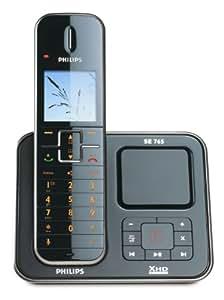 Philips SE7651B/38 Téléphone sans fil avec répondeur Noir