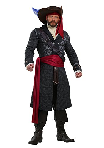 Mens Fancy Dress Costume 5X (Mens Plus Size Pirate Kostüm)