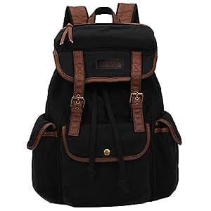 Koolertron Unisex Teenager Girls Boys Casual Canvas Vintage Backpack Travel School Bookbag Ipad Shoulder Bag