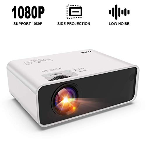 Mini Proyector Portatil,Artlii Enjoy Projector Led,Bajo Nivel de Ruido,4D Keystone Correction ± 45 °,Zoom,Compatible con Full HD1080P,USB/HDMI/SD/AV/VGA,para TV Box,Smartphone,Laptop,Ps4,Cine en casa