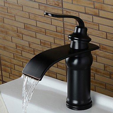Waschbecken Wasserhahn - Wasserfall Öl-Riebe Bronze 3-Loch-Armatur Einhand Ein Loch (Bronze 3-loch)
