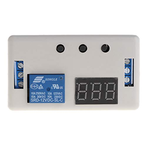 Jenor DC 12 V LED Digital Time Delay Relay Modul programmierbar Timer Relay Control Switch Timing Trigger Zyklus mit Tasche für Innen