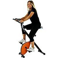 Preisvergleich für BAKAJI Heimtrainer klappbar Magnetisch mit Digitalanzeige für Fitness und Fitness, Fahrrad, Sport platzsparend, für Haus und Büro