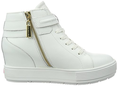 Fornarina Meti, Baskets Basses Femme Blanc - Weiß (0900)