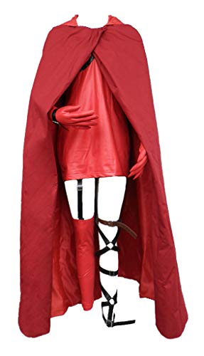 Chong Seng CHIUS Cosplay Costume Outfit for Little Red Version 1 Red One-piece-outfit