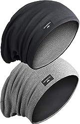 Grin&Bear Unisex Reversible (2 Farben) Lange Slouch Beanie Mütze M81-1