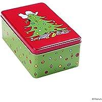 Preisvergleich für BUTLERS PEANUTS Dose Snoopy auf Baum rechteckig groß - Praktische Brotdose - Große Blechdose zur Aufbewahrung - Aufbewahrungsbox für Kinder