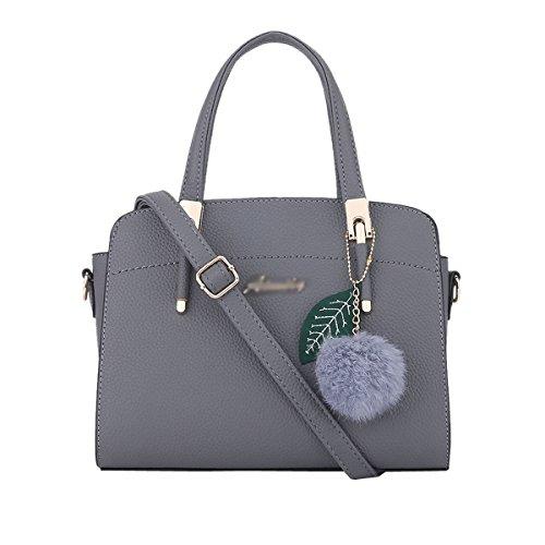 DISSA ES884 neuer Stil PU Leder Deman 2018 Mode Schultertaschen handtaschen Henkeltaschen,280×130×200(mm) Grau