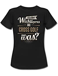 Sportler Motiv Cross Golf Es Gibt Wichtigeres Sepia RAHMENLOS Geschenk Frauen T-Shirt von Spreadshirt®