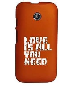 KolorEdge Back Cover For Motorola Moto E (2nd Gen) - Orange (1262-Ke15120MotoE2Orange3D)