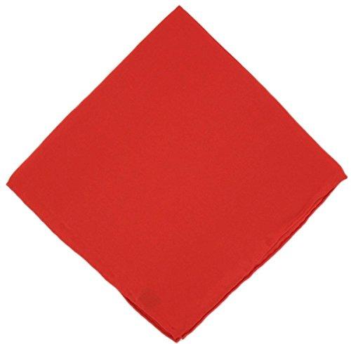 Un mouchoir en soie rouge unie Michelsons