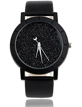 Sunnywill Frauen Mädchen Damen Schöne Mode Design Minimalistische Uhren PU Leder Armbanduhr für Weibliche