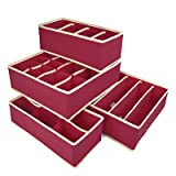 House of Quirk Set of 4 Foldable Storage...