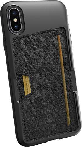 Silk Apple iPhone Xs / X Wallet Hülle - Q Kreditkartentasche [Schlanke Schutztasche mit Kickstand CM4 Grip Cover] -