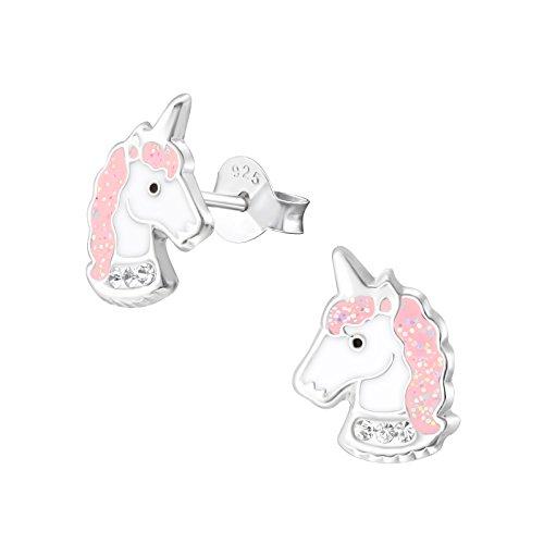 Laimons niña niños pendientes Niños joyas Unicornio