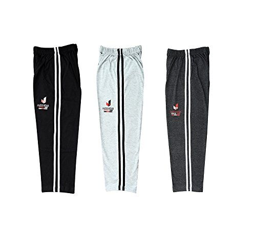 Jack's Star Blended Cotton Track Pants for Kids - Lowers for Boys and Girls - Joggers/Lowers - Pack of 3- (9-10 Years)