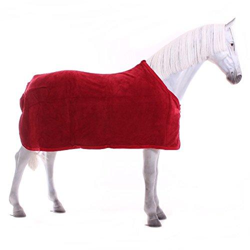 Kavalkade Abschwitzdecke aus Teddyfleece - Rot, Größe:145