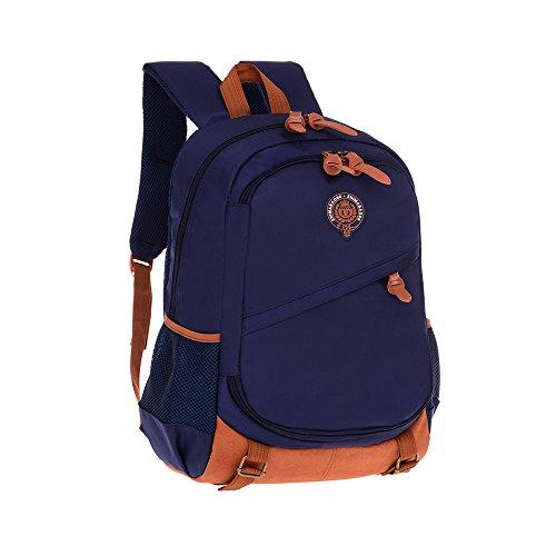 (ZHIMABABY Große Schule Rucksack Taschen für Teenager Jungen Buch Tasche Britischen Stil Wasserdicht Neutral High Density Oxford Tuch Daypack Reise Funky Student Satchel Rucksäcke)
