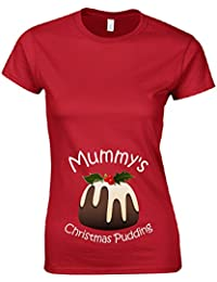 Mummy's Christmas Pudding Ladies Fitted T Shirt