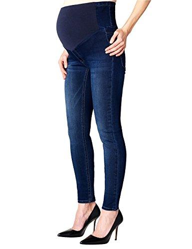 Esprit Maternity Jegging Otb, Pantalon de Maternité Femme Bleu - Blau (Darkwash 910)