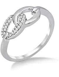 Miore MF8018R - Anillo de mujer de oro blanco (18k) con 30 diamantes