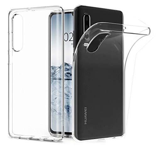 AILZH compatibile per Custodia Huawei p30 Cover Silicone trasparente TPU morbido cristallo chiaro case antiurto Prevenzione dei graffi paraurti Bumper Matte caso