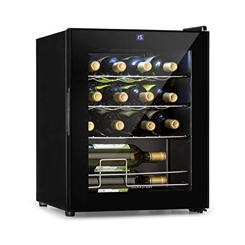 Klarstein Shiraz Réfrigérateur à vin • volume : 42L • 5-18 °C • espace pour 16 bouteilles de vin • classe d'efficacité énergétique A • panneau de commande soft-touch • 3 étagères • noir