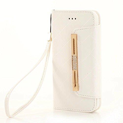 Rhinestone-Kasten mit Handgelenk, magnetische PU-lederne Fall-Mappen-Kasten-Abdeckung für Apple IPhone 7 ( Color : 4 , Size : IPhone 7 ) (Outter Iphone 4 Fälle)