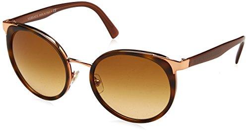 Versace Damen 0VE2185 14122L 54 Sonnenbrille, Braun (Havana/Browngradient),