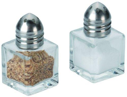 Westmark Mini-Gewürzstreuer-Set, 2-tlg., Fassungsvermögen je 10 ml, Rostfreier Edelstahl/Glas, Silber/Transparent, 63072260