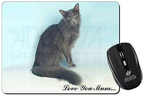 Javanese Cat 'Love You Mum' Computer-Maus -Matte / pad Weihnachtsgeschenk -
