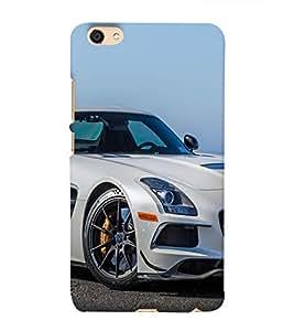 Luxury White Car Hard Polycarbonate Designer Back Case Cover for vivo V5 Lite :: vivo Y66