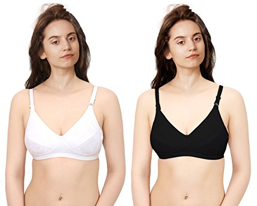 Mango People Every Day White and Black Bra Set of 2  available at amazon for Rs.119