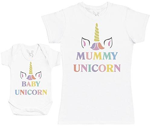 Baby Unicorn & Unicorn - Regalo para Madres y bebés en un Body para b