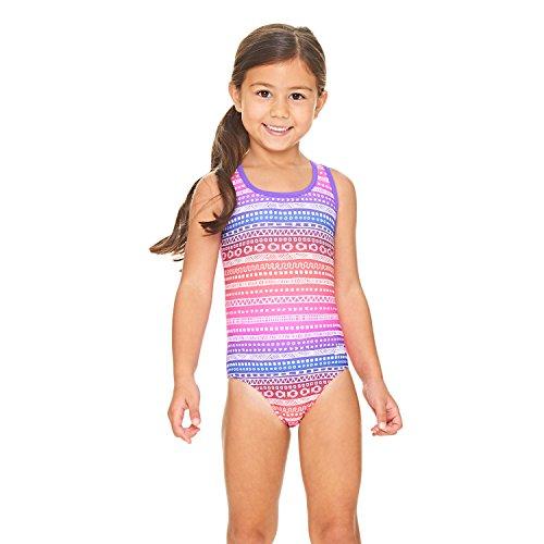 Zoggs Mädchen Ikat Actionback Badeanzug L Pink/Multi-Colour