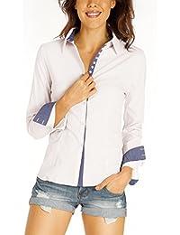 Bestyledberlin Damen Blusen, taillierte Hemden, Stretch Shirts Slim Fit, elegante Oberteile t37z