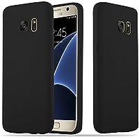 Cadorabo Coque pour Samsung Galaxy S7 en Candy Noir – Housse Protection Souple en Silicone TPU avec Anti–Choc et Anti–Rayures – Ultra Slim Fin Gel Case Cover Bumper