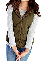 ALIKEEY Las Mujeres con Capucha Chaleco Outwear Dama Caliente Abrigo Largo De Algodón Grueso Acolchado Slim Jacket termica Manga Larga Deportiva Vestido